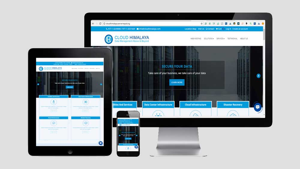 Cloud himalaya is a cloud based CMS / Ecommerce site for web hosting.